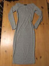 Ladies Grey Stretch Contour Long Sleeve Dress Size 8/10 Body-con