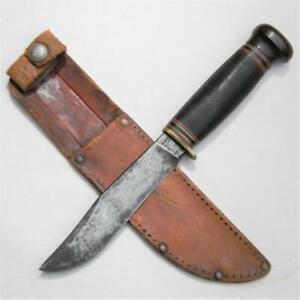 MARBLE'S USA vintage 1949-1952 EXPERT hunting knife Bakelite pommel, orig sheath