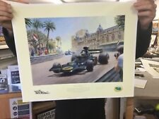 Lotus Victorious Ronnie Peterson Monaco 1974 63/375 Limited Signed Print