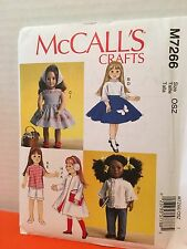 McCalls Crafts M7266 Doll Clothes Pattern