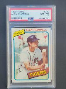 1980 Topps Alan Trammell  # 232 PSA 8  Detroit Tigers