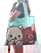 Rilakkuma San-X Bear Food FOLDABLE Shopper Tote Bag Handbag Shopping Bag Green