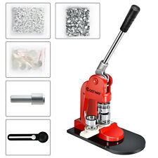 More details for badge maker machine making pin button badges punch press 25mm 1000 cutter kits