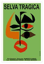 "Cuban movie Poster 4""TRAGIC Forest""Brazil film.Jungle.Primitive design.Earth art"