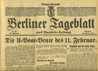 1917 BERLINER TAGEBLATT WWI Die U-Boot Leute Wien Erfolge der Truppen in Tirol
