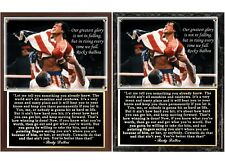 Rocky Balboa Inspirational Speech photo Plaque
