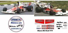 Decals McLaren M23 marlboro Fittipaldi Hulme Brazil GP Brésil 1974 1/43e