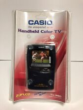 """Vintage Casio Handheld Color TV-980 2.3"""" LCD Analog Television New Sealed!"""