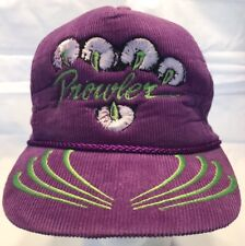 Vintage Prowler Purple Corduroy Hat White Paw Green Claws Logo Arctic Cat HTN