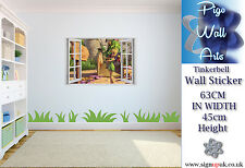 Tinkerbell Wall Sticker 3D Window Disney's Children's bedroom Art décor large