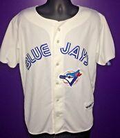 Toronto Blue Jays Baseball Ravens Knit MLB Jersey Size XL Made In Canada White