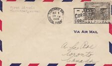 AVIATION : 1928 CANADA FIRST FLIGHT  Toronto-Montreal -airmail cover
