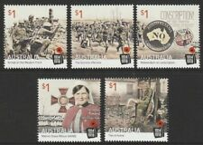 Australia 2016 : Centenary of WW1 : 1916, Set of 5 x $1.00 Decimal Stamps, MNH
