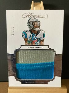 CURTIS SAMUEL NFL 2017 FLAWLESS ROOKIE PATCHES SILVER #/20 (PANTHERS,WASHINGTON)