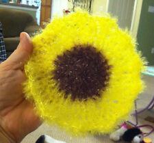 Dish Cloth, Sunflower Scrubber, Flower Susemi Scrubby, Dish Scrubbie
