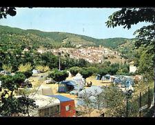 AMELIE-LES-BAINS / PALALDA (66) PEUGEOT 403 & CARAVANE au CAMPING animé en 1970