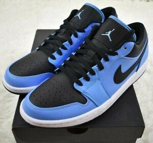 Nike Air Jordan 1 Retro Low Mens Size 14 University Blue 553558-403 DS