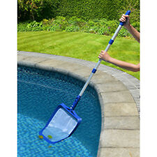 Leaf Skimmer Net Swimming Pool Spa Telescopic Pole Cleaner Cleaning Above Ground