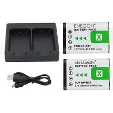 NP-BX1 ENEGON Batterie de rechange (2 paquets) et chargeur double rapide