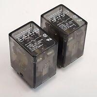 Qty 2 / Potter Brumfield KHAU-17D11-24 Power Relay, KHA Series, 4PDT, 24Vdc