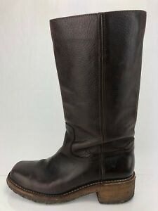 Frye Campus Mid Calf Boots Brown Leather Casual Pull On Comfort Womens Sz 9.5 B