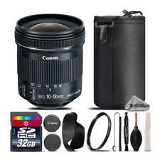 Canon EF-S 10-18mm IS STM Lens + UV Filter + Case + Cleaning Kit - 32GB Kit