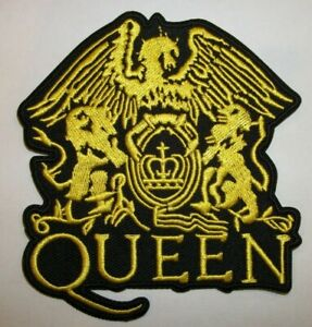 """Freddie Mercury~Queen~Crest~UK~PATCH~Embroidered~4"""" x 3 5/8""""~Iron or Sew"""