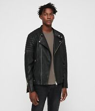 ALLSAINTS Jasper Biker Black Lamb Leather Men's Jacket Size M