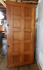 Huge Victorian Oak Paneled Pocket Door 48 X 110