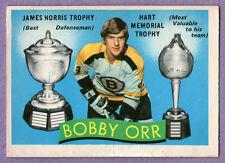 1971-72 OPC Bobby Orr Boston Bruins - James Norris Trophy / Hart Trophy #245