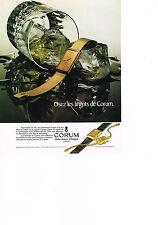PUBLICITE ADVERTISING  1981   CORUM     maitres artisans Suisses  MONTRE