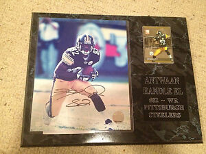 Antwaan Randle El Signed Photo, Plaque Included - 2005 - Pittsburgh Steelers NFL
