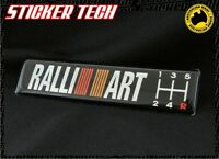 RALLIART 5 SPEED MANUAL GEAR BLACK BADGE STICKER EMBLEM MITSUBISHI SUIT EVO GSR