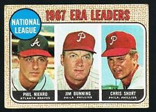 1968 Topps #7 1967 ERA LEADERS Baseball Card