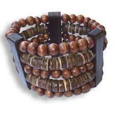 Armband aus Sono und Kokosnuss Holz Handarbeit Dehnbar Design B021