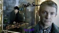 Benedict Cumberbatch & Martin Freeman Sherlock Signed 10X8 RePro Photo Print