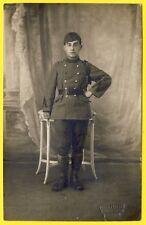 cpa CARTE PHOTO Feasson, St ETIENNE Militaire Soldat Gradée du 10 ème Régiment