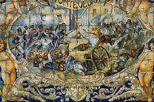 639060defense della città di Pontevedra dalle truppe francesi SIVIGLIA A4 Photo Prin