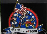 Disney WDW LE 4th of July Fife and Drum Mickey Mouse Donald Pluto Pin