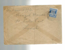 1945 Guernsey Channel Islands Occupation Cover to Hirzel House St Peters Port