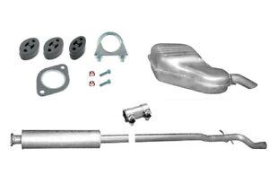 Abgasanlage Auspuff für Volvo V70 II 2.4 (140PS & 170PS) Kombi P80_ + Anbaukit