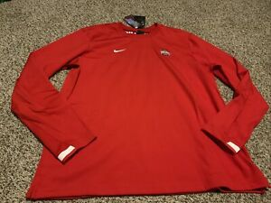 Nike Ohio State Buckeyes On Field Pullover Crew Shirt  2020 Men's Size: Large