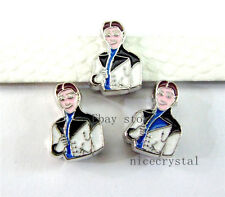 5pcs 8mm slider charms Fit DIY Name Bracelet/Phone strip/SL238-16