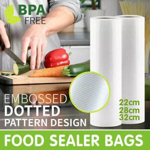 1-10x Vacuum Food Sealer Seal Bags Rolls Saver Storage Commercial Heat Grade AU