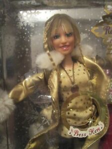 Doll Hannah Montana Doll Disney Holiday Pop Star Doll 2008 New In The Box
