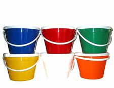 12 One Gallon Buckets Lids Mix Colors Red White Blue Orange Yellow Green