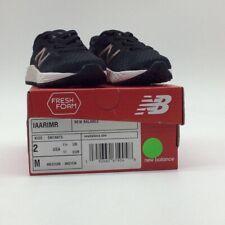 New Balance Girls Fresh Foam Sneakers Black Bungee Lace Arishi v2 Low Top Mesh 2
