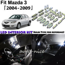 8x White LED Interior Lights Package Kit For 2004 - 2006 2007 2008 2009 Mazda 3