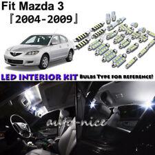 8x White LED Interior Lights Package Kit For 2004 - 2006 2007 2008 2009 Mazda 3
