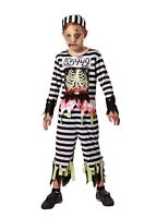 Childs Skeleton Prisoner Halloween Fancy Dress Costume Age 5 - 9